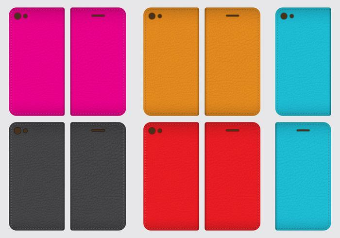 Leather Phone Cases vector